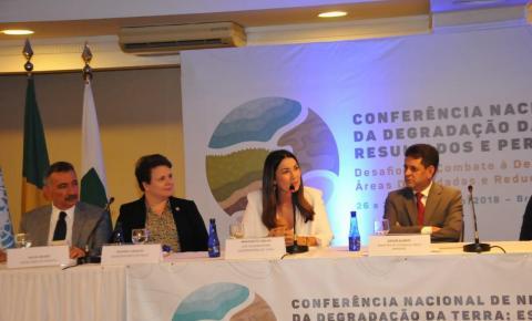 Margarete participa da Conferência Nacional de Neutralidade da Degradação da Terra