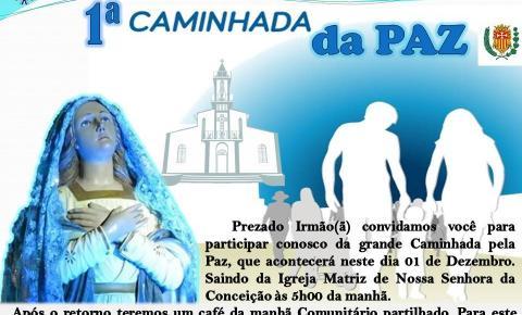 Paróquia Nossa Senhora Conceição promove Caminhada da Paz na manhã desse sábado (1º)