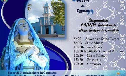 Confira a programação da Paróquia Nossa Senhora Conceição para esse sábado