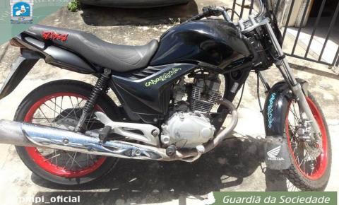 2ªCIA/7ºBPM recupera moto em Curimatá-PI