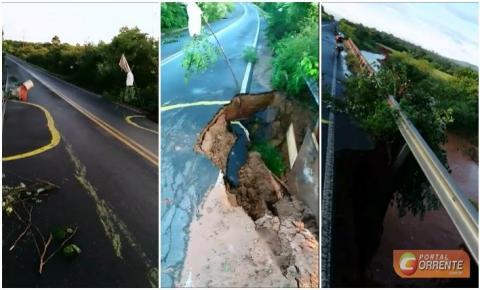Cratera em cabeceira de ponte na PI 140 causa preocupação aos motoristas