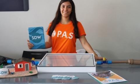 Estudante da Bahia cria tecnologia para filtrar água através da luz solar ganha prêmio nos EUA