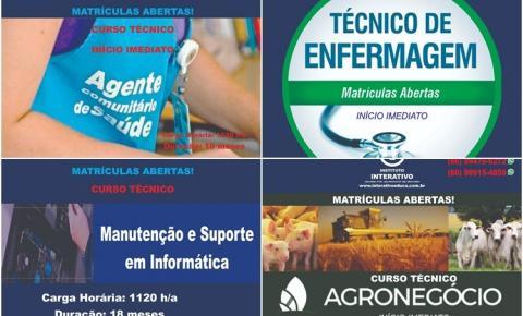 Instituto Interativo oferece quatro cursos técnicos em Corrente