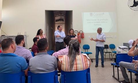 Profissionais da Saúde de São Gonçalo do Gurgueia participam de palestra e recebem orientações do COREN/PI