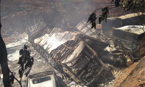 Motorista morre carbonizado em grave acidente na BR 135 em São Gonçalo do Gurgueia