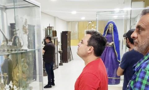 Secretário de Estado da Cultura, Fábio Novo, visita o Museu Mãe Iracema