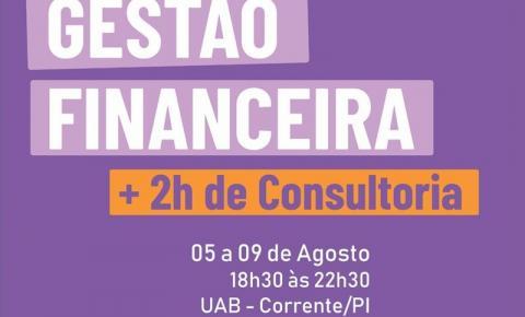 Oportunidade imperdível! SEBRAE realizará curso de Gestão Financeira em Corrente!