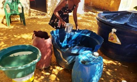 Desesperada pela falta d'água, população de Parnaguá marca manifestação