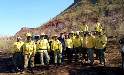 Brigada do ICMBio controla incêndio em Corrente