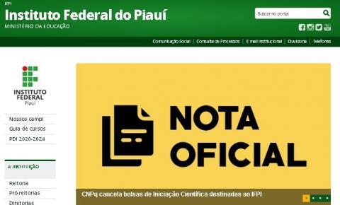 CNPq cancela bolsas de Iniciação Científica destinadas ao IFPI