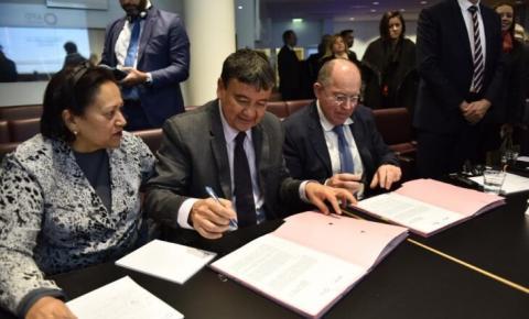 Governador assina contrato de 200 milhões de euros com Agência Francesa de Desenvolvimento