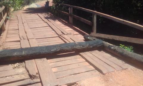 Ponte da Vereda da Porta, zona rural e Corrente, encontra-se interditada