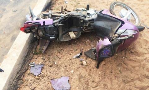 Acidente na BR 135 em Monte Alegre deixa duas pessoas gravemente feridas