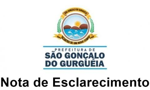 Prefeitura de São Gonçalo do Gurgueia divulga Nota de Esclarecimento