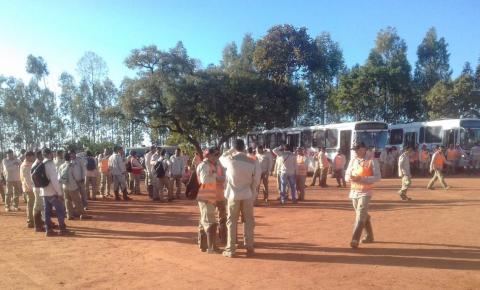 Funcionários de empresa do canteiro de obras da Usina Solar São Gonçalo paralisam atividades por direitos trabalhistas