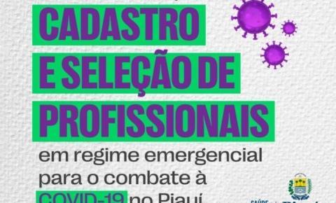 ATENÇÃO! Sesapi está com edital aberto para seleção emergencial de profissionais da saúde