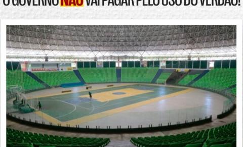 Governo desmente fakenews e afirma que não pagará pelo uso de estádio