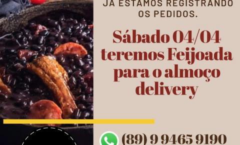 Neste sábado tem feijoada para almoço delivery no Coelho Café!