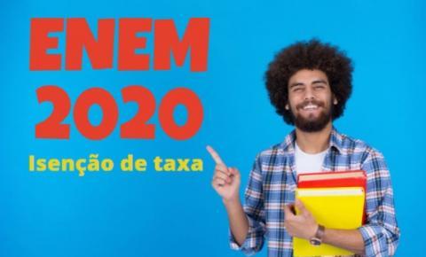 Solicitação de isenção da taxa de inscrição do ENEM 2020 começa hoje