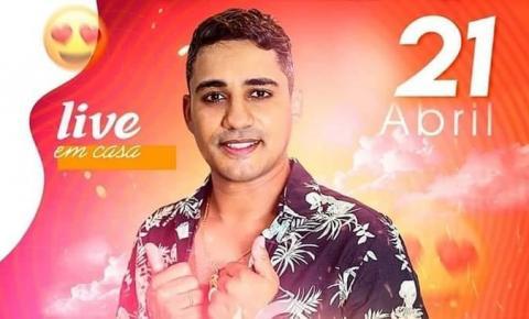 Hoje tem Live Solidária do cantor Magayver Guerra, a partir das 19h