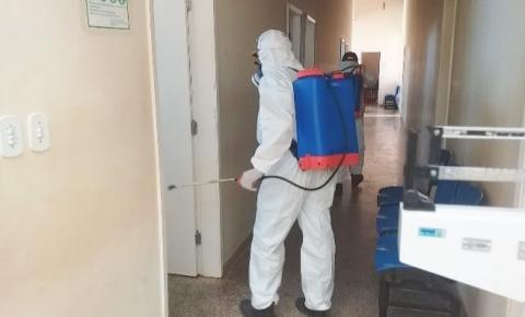 Prefeitura de São Gonçalo do Gurgueia realiza a desinfecção e higienização de repartições municipais