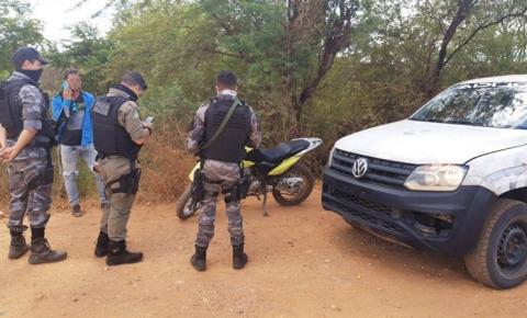 Polícia Militar recupera em Avelino Lopes motocicleta roubada do estado de Goiás