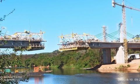 Ponte de Santa Filomena poderá ficar pronta em setembro, mas sem obra de retorno no lado maranhense por entrave burocrático