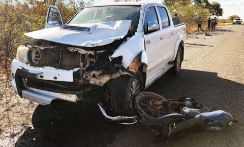 Motociclista morre em colisão frontal na PI 415 em Corrente