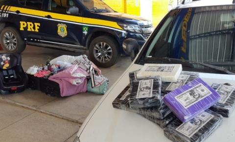 PRF apreende droga avaliada em mais de um milhão e meio de reais em Floriano
