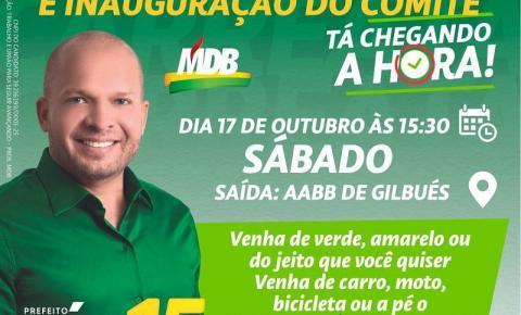 Léo Matos realizará carreata e inauguração de comitê neste sábado em Gilbués