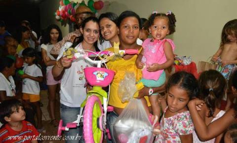 ONG realiza festa de Natal para crianças carentes em Sebastião Barros