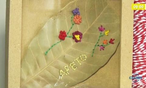 Os delicados bordados em folha de caju de Corrente são destaque em matéria veiculada na TV O Dia