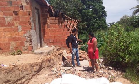 Família fica desalojada por causa das fortes chuvas em Gilbués e poder público não cumpre auxílio prometido
