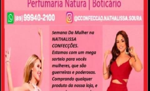 Nathalissa Confecções, Peças Íntimas e Perfumaria realiza promoção especial da Semana da Mulher