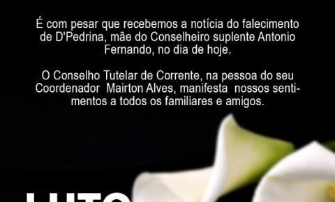 Conselheiro tutelar suplente de Corrente perde pai e mãe em menos de 24h