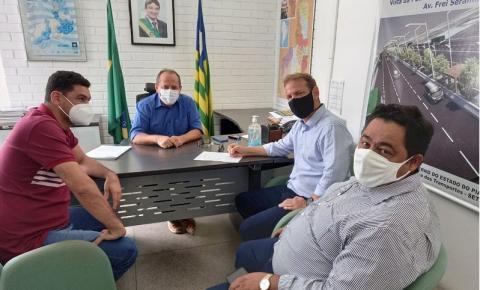 Secretário Estadual de Transportes confirma a liberação de 14 mil metros quadrados de pavimentação para Sebastião Barros