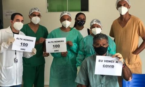 Hospital Dr. João Pacheco Cavalcante registra a 100ª alta de pacientes internados por covid-19