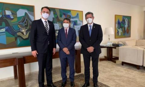 Dias se reúne com senador Rodrigo Pacheco para tratar de ampliação da vacinação contra a covid-19