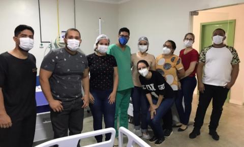 Profissionais da Ala Covid do Hospital Dr. João Pacheco Cavalcante participam de capacitação