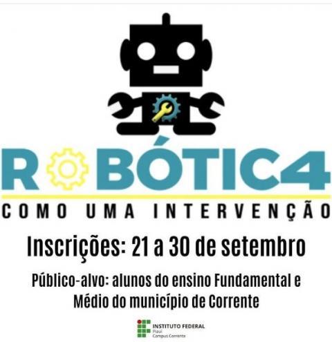 IFPI Corrente realiza seletivo para projeto de Robótica