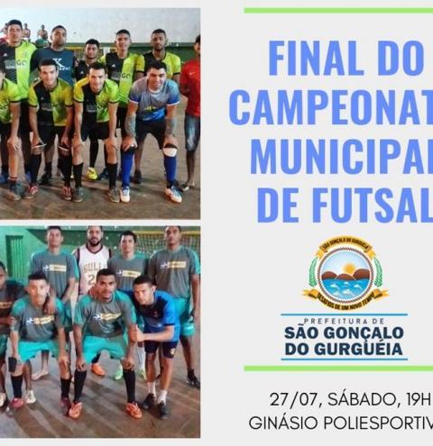 Final do Campeonato Municipal de Futsal de São Gonçalo do Gurgueia acontecerá no próximo sábado