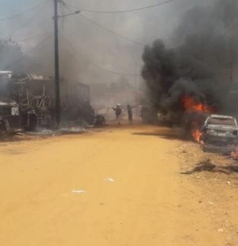 Incêndio em Formosa do Rio Preto destrói dois veículos