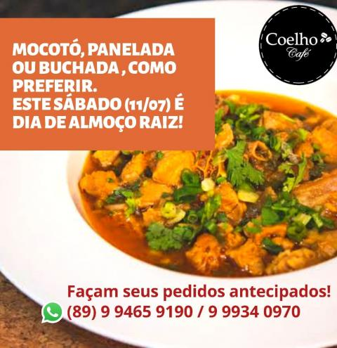 Almoço raiz? Nesse sábado, no Coelho Café!