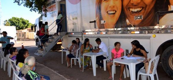 Carreta da Saúde já está na Praça Joaquim Nogueira realizando atendimentos gratuitos